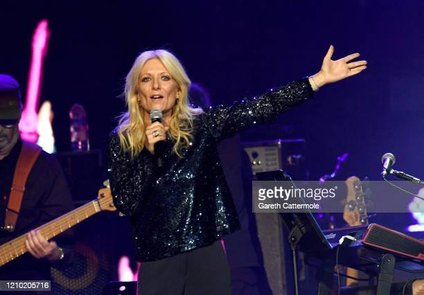 Gaby Roslin on stage during Music For The Marsden 2020 at The O2 Arena on March 03 2020 in London England