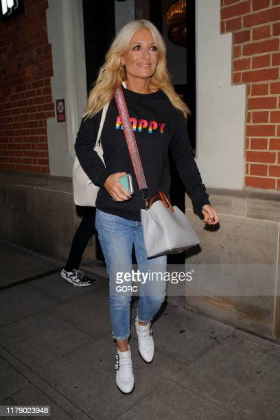 Gaby Roslin seen leaving TV studios after recording Strictly It Takes Two on October 04 2019 in London England