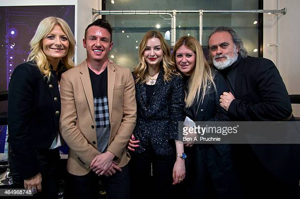 Gaby Roslin Simon Jones Ella Gregory Mandi Lennard and Dave Benett attends the #Grazia10 talk The Changing Face Of Celebrity with Mandi Lennard Simon...