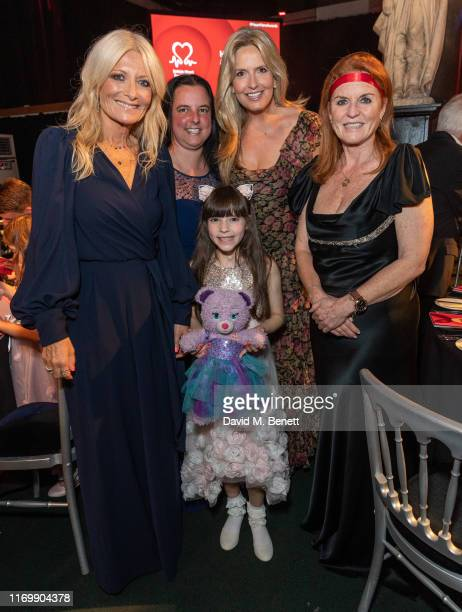 Gaby Roslin Suzie Gaskill Penny Lancaster Sarah Duchess of York and Evie Gaskill and attend The British Heart Foundation's Heart Hero Awards at...