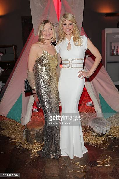 Gaby Strassburger and Natascha Gruen attend the Dresswestern party at Rilano No 6 on February 22 2014 in Munich Germany