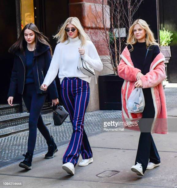 Gaby Westbrook Nadine Leopold and Devon Windsor are seen in SoHo on February 5 2019 in New York City