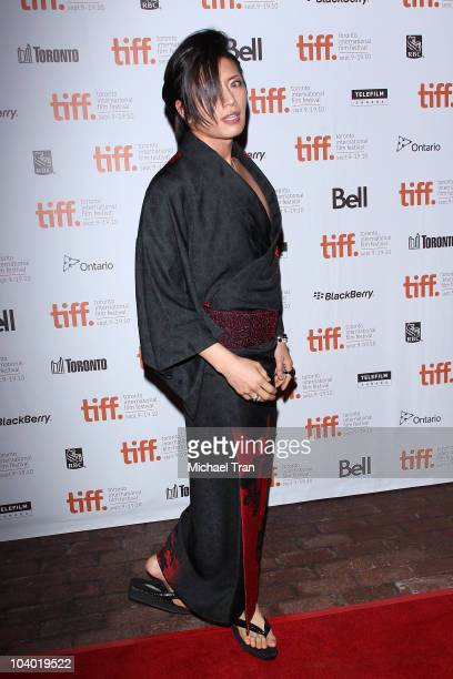 Gackt arrives at the Bunraku premiere during the 2010 Toronto International Film Festival held at Ryerson Theatre on September 11 2010 in Toronto...