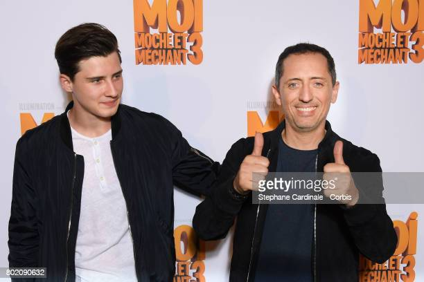 Gad Elmaleh and his son Noe Elmaleh attend the Despicable Me Paris Premiere at Cinema Gaumont Marignan on June 27 2017 in Paris France