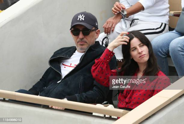 Gad Elmaleh attends the men's final during day 15 of the 2019 French Open at Roland Garros stadium on June 9 2019 in Paris France