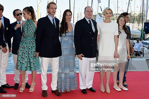 Gad Elmaleh Charlotte Casiraghi Andrea Casiraghi Tatiana Santo Domingo Casiraghi Prince Albert II of Monaco Princess Charlene of Monaco and Princess...
