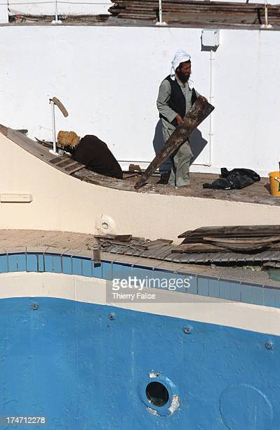Gadani ships demolition yard Workers are pulling apart one of the swimming pools on the Canberra The British passenger ship was put out of commission...
