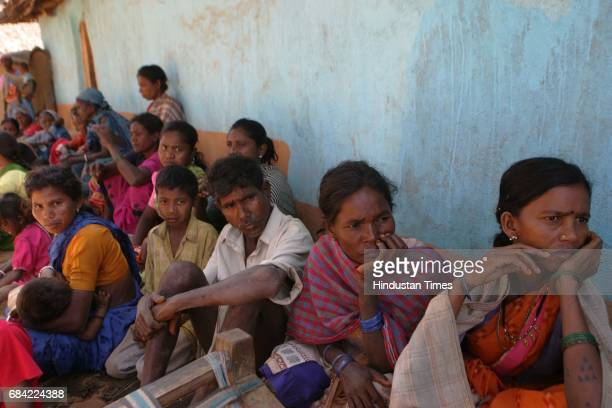 Gadchiroli Naxalism Naxals Naxalite A few remaining villagers of Markegaon have collectively decided to spend their entire day at the village square...