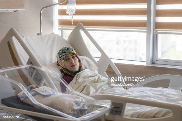 Gade Birinci pregnant at the same time with her mother Fatma Birinci lays hospital beds with her baby named after simultaneously gave birth their to...