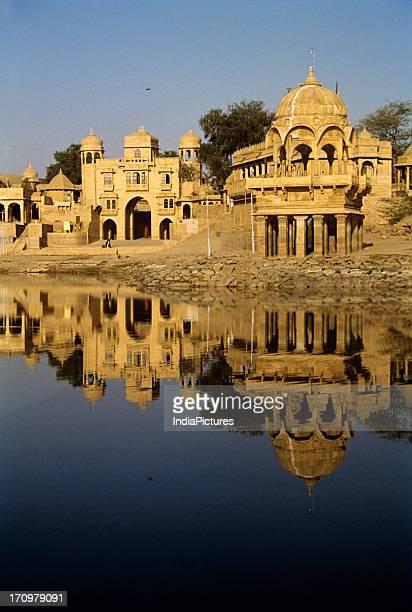 Gadi Sagar lake is a manmade reservoir Jaisalmer Rajasthan India