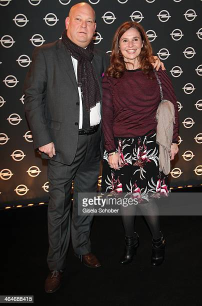 MUNICH GERMANY JANUARY Gady Gronich and Judith Epstein attend the presentation and vernissage of the calender 'THE ADAM BY BRYAN ADAMS' for Opel at...