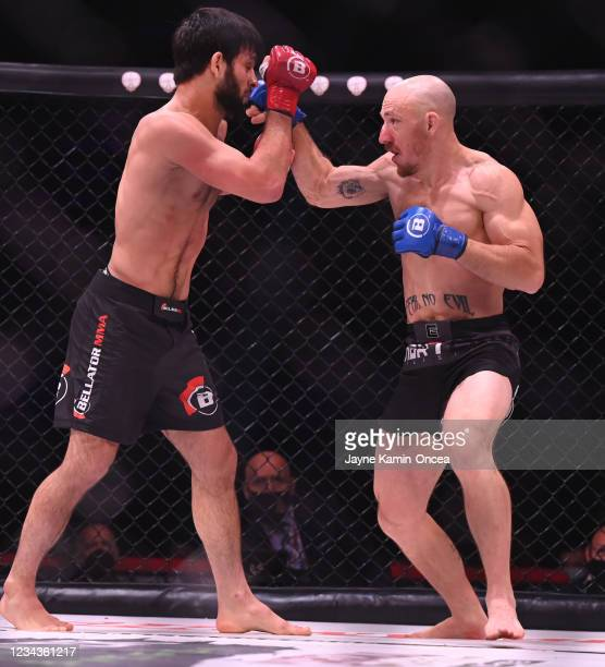 Gadzhi Rabadanov as he defeats Daniel Carey by TKO in the second round of their 150 lb. Contract Weight Bout at The Forum on July 31, 2021 in...