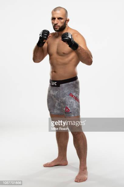 Gadzhimurad Antigulov poses for a portrait during a UFC photo session on July 25 2018 in Calgary Alberta Canada