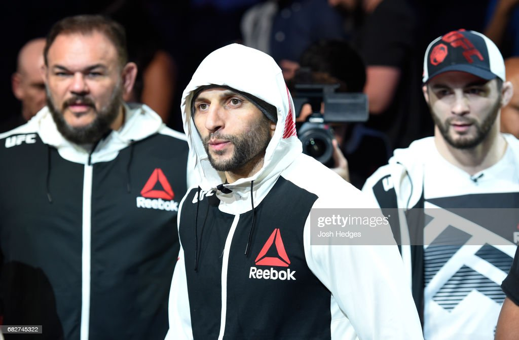 Gadzhimurad Antigulov prepares to enter the Octagon before facing Joachim Christensen in their light heavyweight fight during the UFC 211 event at the American Airlines Center on May 13, 2017 in Dallas, Texas.