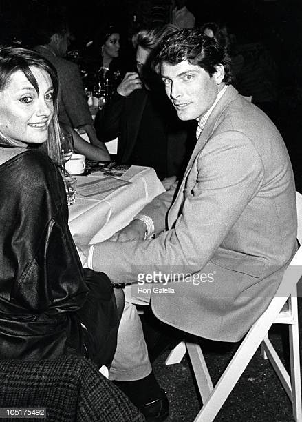 Gae Exton and Christopher Reeve during 4th Annual New York Caberet Benefit for the Williamstown Theater Festival at Studio 54 in New York City New...
