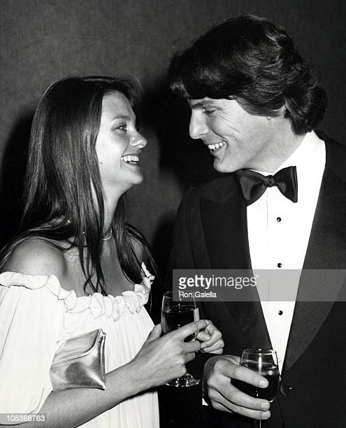 Gae Exton and Christopher Reeve during 50th Anniversary Gala For USC's Film Department at Century Plaza Hotel in Century City California United States