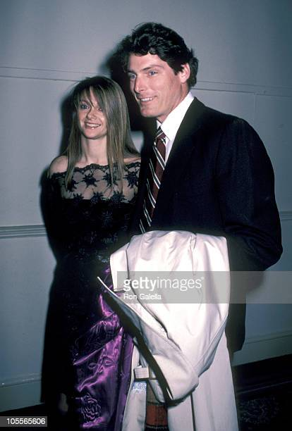 Gae Exton and Christopher Reeve during American Museum of the Moving Image Dinner at Pierre Hotel in New York City New York United States