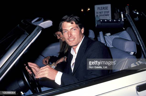 Gae Exton and Christopher Reeve during Christopher Reeve and Gae Exton Sighting at Spago's July 21 1984 at Spago's in Hollywood California United...