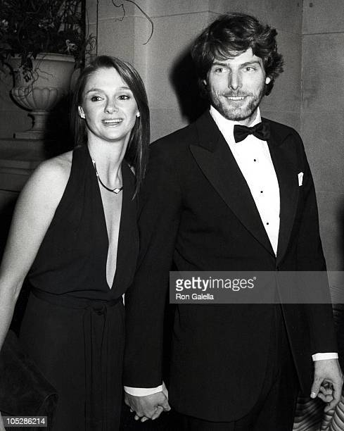 Gae Exton and Christopher Reeve during Diana Vreeland's Costume Exhibition December 8 1980 at Metropolitan Museum of Art in New York City New York...