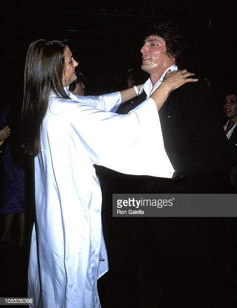Gae Exton and Christopher Reeve during Hair Los Angeles Premiere at ABC Center in Los Angeles CA United States