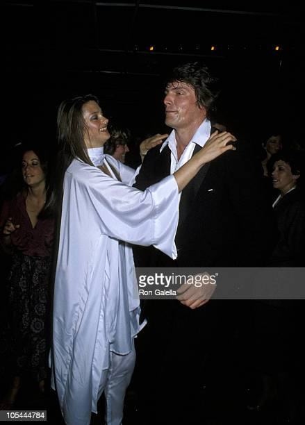 Gae Exton and Christopher Reeve during Premiere of Hair at Filmex 79 in Los Angeles California United States