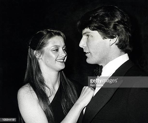 Gae Exton and Christopher Reeve during Superman New York City Premiere at Loews Astor Plaza Theater in New York City New York United States