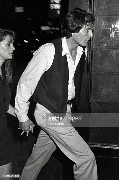 Gae Exton and Christopher Reeve during The World According to Garp Wrap Party at Savoy in New York City New York United States