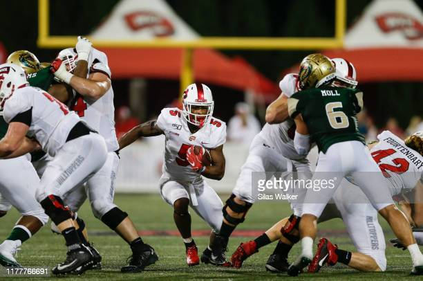 Gaej Walker of the Western Kentucky University Hilltoppers runs with the ball during the game against the University of Alabama Birmingham Blazers on...