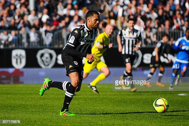 Gael Angoula during the French Ligue 1 match between Angers SCO and Olympique de Marseille on May 1 2016 in Angers France