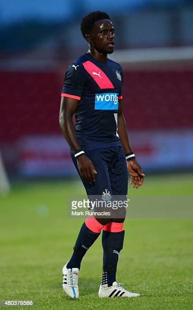 Gael Bigirimana of Newcastle in action during the pre season friendly match between Gateshead and Newcastle United at Gateshead International Stadium...
