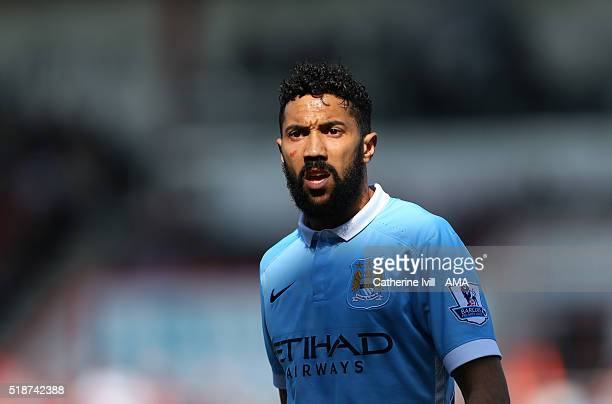 Gael Clichy of Manchester City during the Barclays Premier League match between AFC Bournemouth and Manchester City at Vitality Stadium on April 2...