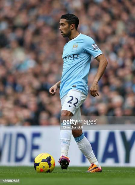 Gael Clichy of Manchester City in action during the Barclays Premier League match between Manchester City and Arsenal at Etihad Stadium on December...