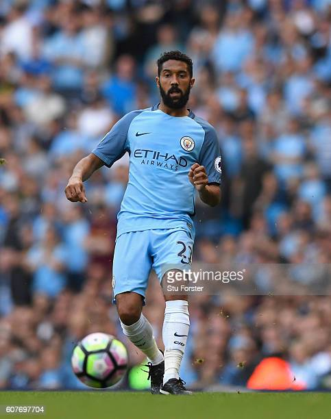 Gael Clichy of Manchester City in action during the Premier League match between Manchester City and AFC Bournemouth at Etihad Stadium on September...