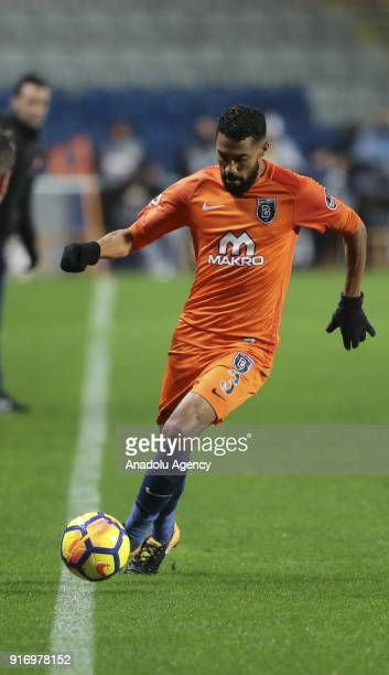 Gael Clichy of Medipol Basaksehir in action during the Turkish Super Lig soccer match between Medipol Basaksehir and Fenerbahce at the Fatih Terim...