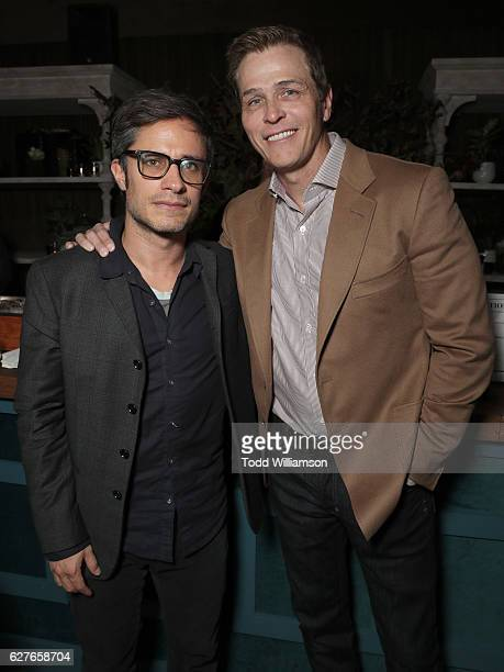 Gael Garca Bernal and WME's Patrick Whitesell attend Jeff Bezos and Matt Damon's Manchester By The Sea Holiday Party on December 3 2016 in Los...