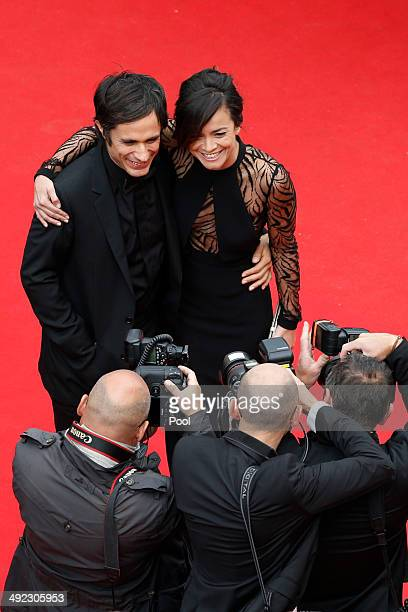 Gael Garcia Bernal and Alice Braga attend the 'Foxcatcher' premiere during the 67th Annual Cannes Film Festival on May 19 2014 in Cannes France