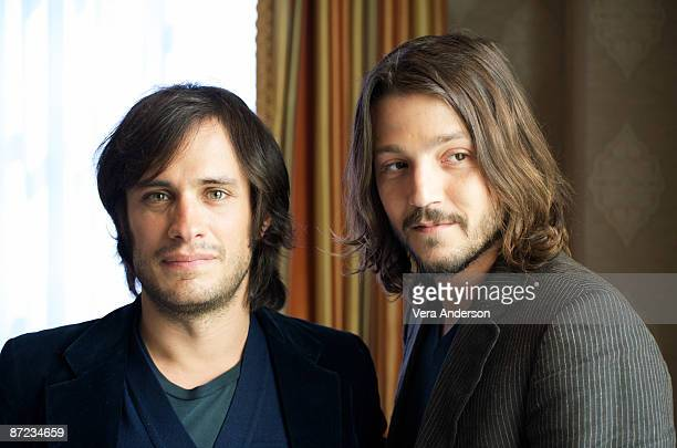 Gael Garcia Bernal and Diego Luna at the 'Rudo Y Cursi' press conference at the Four Seasons Hotel on May 4 2009 in Beverly Hills California