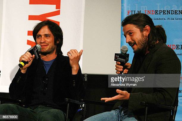 Gael Garcia Bernal and Diego Luna attend Film Independent's Preview Screening of Rudo y Cursi at the ArcLight Hollywood on May 4 2009 in Hollywood...