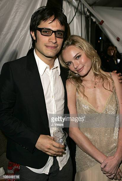 Gael Garcia Bernal and Kate Bosworth during The 20th Annual IFP Independent Spirit Awards Green Room in Santa Monica California United States