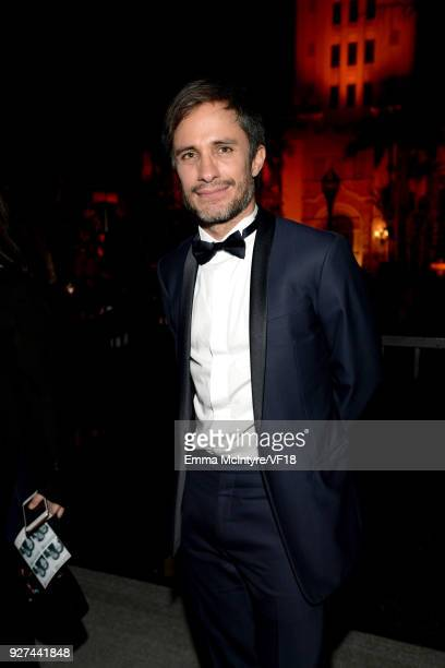 Gael Garcia Bernal attends the 2018 Vanity Fair Oscar Party hosted by Radhika Jones at Wallis Annenberg Center for the Performing Arts on March 4...