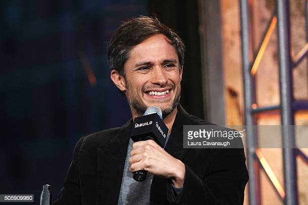 Gael Garcia Bernal attends the AOL Build Speaker Series to discuss the show Mozart In The Jungle at AOL Studios on January 20 2016 in New York City