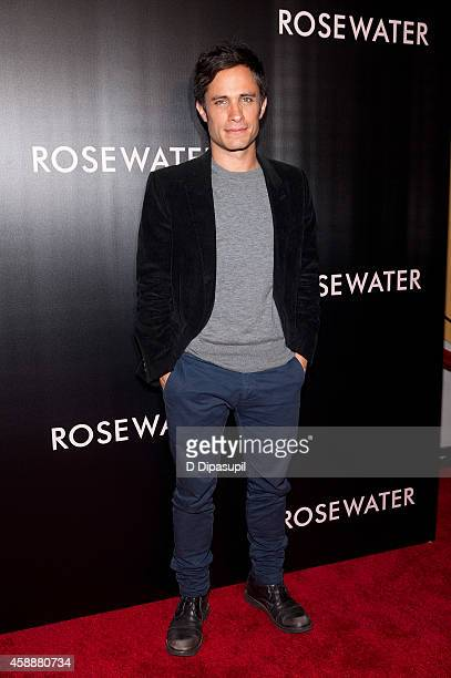 Gael Garcia Bernal attends the Rosewater New York Premiere at AMC Lincoln Square Theater on November 12 2014 in New York City
