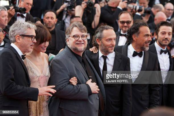 Gael Garcia Bernal, Diego Luna, Alejandro Gonzalez Inarritua, Guillermo del Toro, Sheherazade Goldsmith, Alfonso Cuaron and Emmanuel Lubezki attend...
