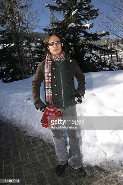 Gael Garcia Bernal during 2006 Sundance Film Festival Gael Garcia Bernal Outdoor Portraits in Park City Utah United States
