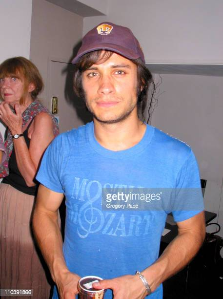 Gael Garcia Bernal during The 24 Hour Plays Performance Benefit Gala for the Old Vic Theatre Backstage at Old Vic in London Great Britain