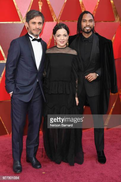 Gael Garcia Bernal Natalia Lafourcade and Miguel attend the 90th Annual Academy Awards at Hollywood Highland Center on March 4 2018 in Hollywood...