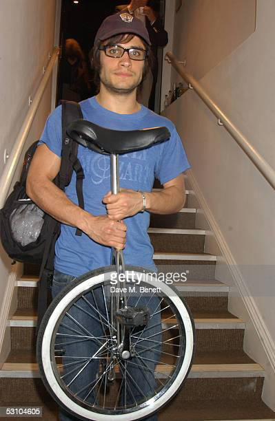 Gael Garcia Bernal of Motorcycle Diaries attends the backstage party following 24 Hour Plays at The Old Vic Theatre on June 19 2005 in London England...