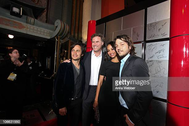 Gael Garcia Bernal Will Ferrell Zoe Saldana and Diego Luna at the AFI Fest 2010 Screening Of 'Abel' Red Carpet at Grauman's Chinese Theatre on...