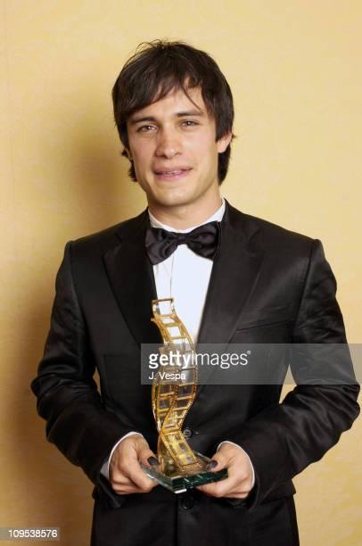 Gael Garcia during 2003 Cannes Film Festival Gael Garcia Bernal Awarded the 2003 Chopard Trophy at Martinez Hotel in Cannes France