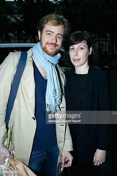 Gael Giraudeau and Anne Auffret attend 'L'oiseau Bleu' at Theatre Hebertot on May 31 2016 in Paris France